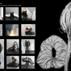 043 costume development black and white