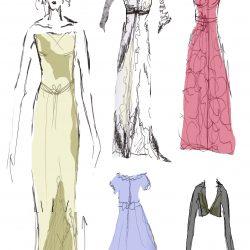 costume design for Miss Havisham's expectations