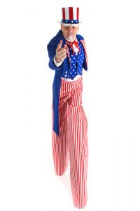 uncle sam stilt costume for Stewart Pemberton
