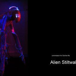 alien stilt costume for Trumans