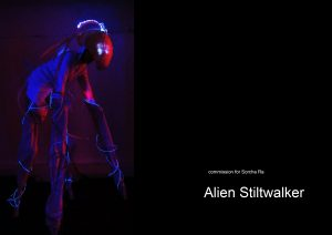alien stilt costume for Trumans