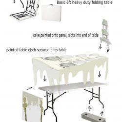 the wedding table for tour Miss havisham's expectations