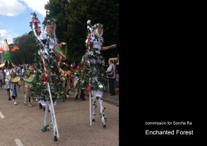 stilt costumes for Sorcha Ra