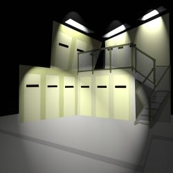 Macbeth set design for main cell block IYT