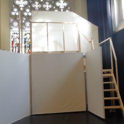 Macbeth set construction for main cell block IYT